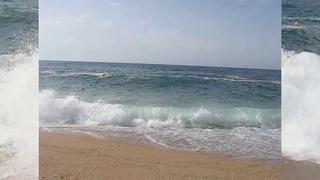 Public beach in Lloret de Mar Spain Travel vlog  Costa Brava sea and plage Catalonia