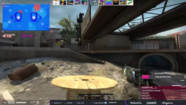 Clip boosted girl road to 3k 2712 3000 faceit jam mie on Twitch