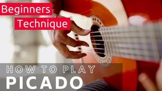 How to play PICADO | Flamenco & Classical Guitar Lesson