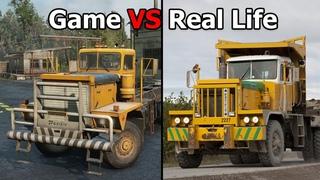 Snowrunner Game vs Real Life Trucks and Vehicles (USA Side)