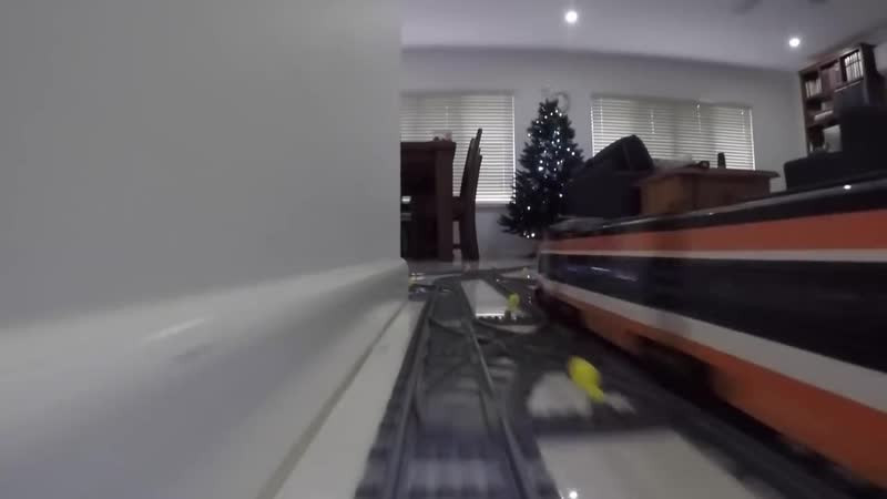 Lego Train Set Going through the Garden House 2016
