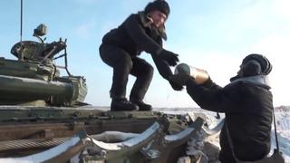 Действия танкистов ВДВ по поддержке основных сил десантников на учении под Псковом