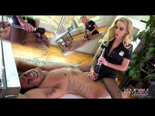 isabelle deltore edging interrogation [femdom, chastity, bondage, vibrator, tease and denial, pantyhose]