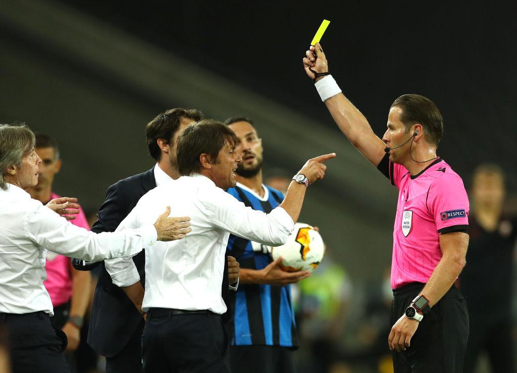 Севилья - Интер, 3:2. Желтая карточка Антонио Конте