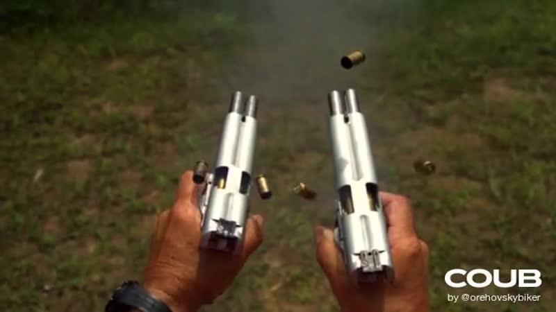 Shooting double barreled 1911s