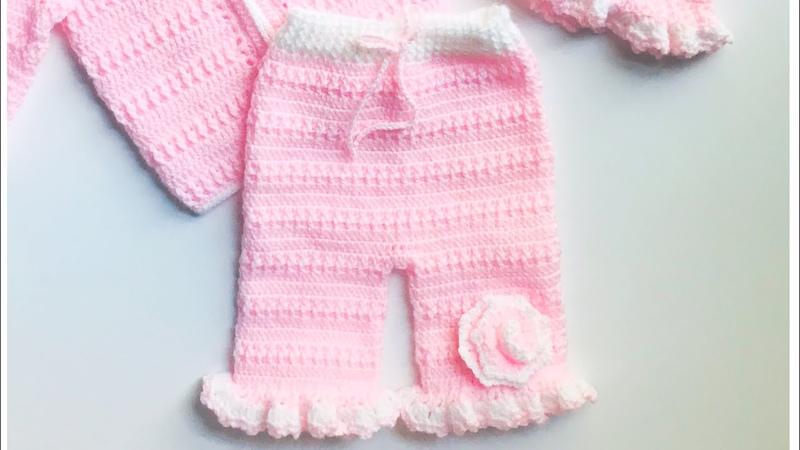 Pantalon corto a crochet para niñas 6 9 meses Como tejer con gancho Crochet for Baby