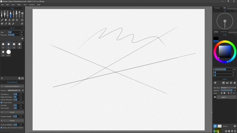 What's new in Rebelle 3 Part 9 Drawing Straight Lines and the Ruler Panel