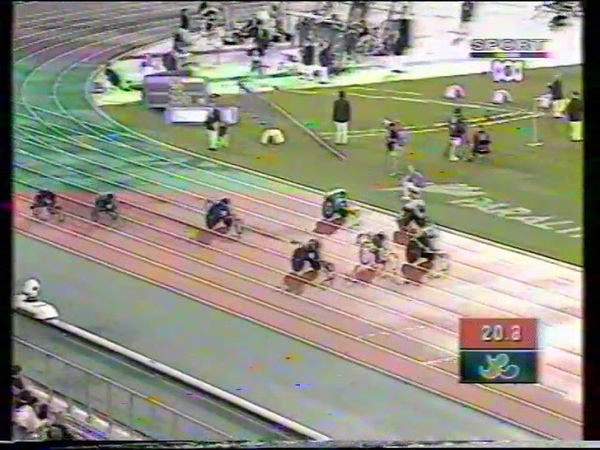 Sydney 2000 Paralympic Games Mens T53 200m Final poor quality