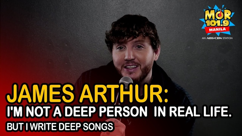 James Arthur admits he's not a DEEP person in REAL LIFE