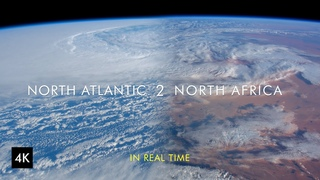 Earth from Space in 4k - North Atlantic 2 North Africa in Real-Time