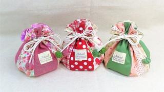 巾着袋の作り方 裏地付き マチ付き How to make a drawstring pouch / diy kawaii pouch  はぎれで作れる可