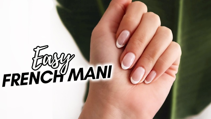 EASY French Manicure for Beginners GEL AT HOME Bougie on a Budget