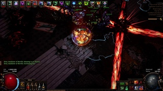 [Path of Exile] SIRUS A9 Last Phase Carrion Golem Build.
