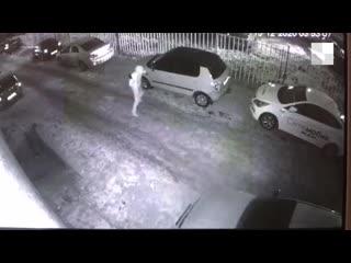 Воры, которые обнесли восемь автомобилей в Екатеринбурге, попали на видео