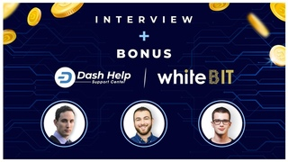 WhiteBIT exchange and Dash Help Interview + TRADE AT 0% FEE WITH OUR SPECIAL LINK
