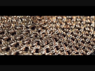 Процесс изготовление цепи плетения Бисмарк