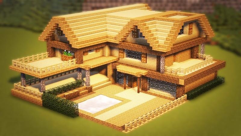как построить начальный и красивый дом в майнкрафт #1