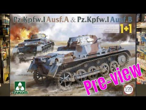 Takom 1 35 Panzer I A and Panzer I B 2 kits one box model kit preview
