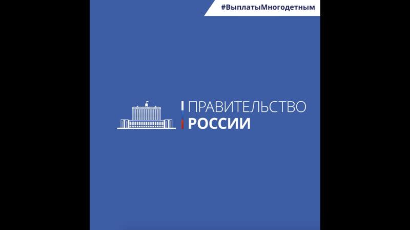 Михаил Мишустин о поддержке многодетных семей