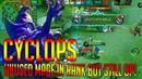 លេង Cyclops អូស Rank ឲ្យប្អូន | Cyclops Solo Lower Rank Tie | Mobile Legends