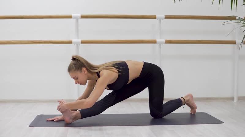 SLs Как сесть на шпагат. Упражнение №5 наклон к ноге с колена
