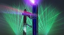 SpaceX starbase tower laser show animation