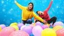 Balon patlatma challenge ve slime şişirme challenge! Süper eğlenceli video! Kız oyunları