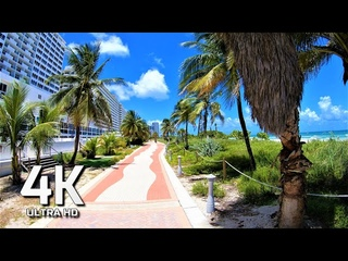 SUNNY DAY MIAMI BEACH JULY 2020 WALKING TOUR 4K UHD 60FPS USA AΩ