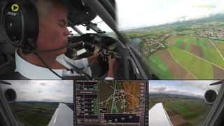 PC-24 Adventure! Uli's first-ever Pilatus Jet landing into Grenchen!  [AirClips]