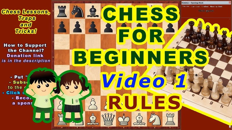 CHESS LESSONS ♔ TRAINING for beginners online ♕ VIDEO 1 Rules of the game