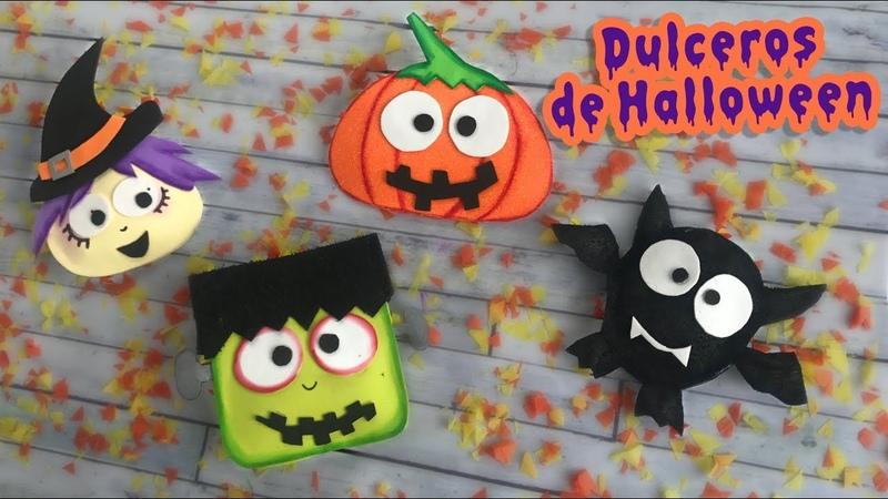 Dulceros súper tiernos de Halloween Chuladas Creativas 🎃 Halloween DIY
