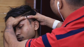 Biswajit barber using thai tool for massage my head and body | ASMR loud cracks