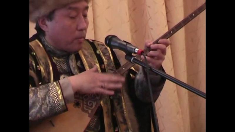 Казахская музыка Домбра Концерт А Раимбергенова и У Байбосыновой в Хакасии