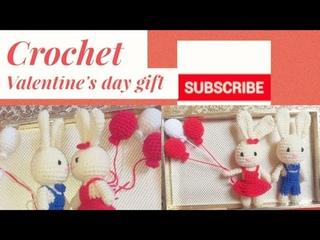 Crochet valentine's Day  gift   Amigurumi bunny /உல்லன் நூலில் முயல் பொம்மை/part - 1