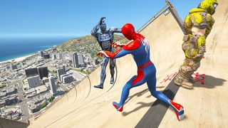 GTA 5 Water Ragdolls Spiderman VS Doom (Euphoria Physics Fails and Funny Moments)