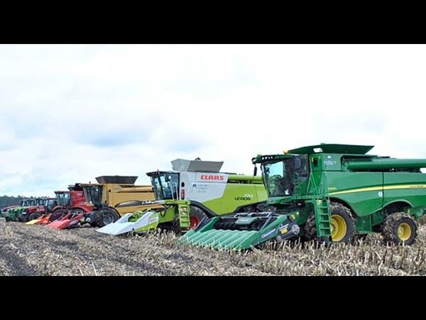 Будущее наступило роботы комбайны собирают урожай на реальных полях
