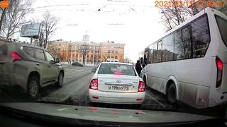 Автомобиль без водителя проехал стоп-линию на камеру + бонус в конце/ учитель - нарушитель.