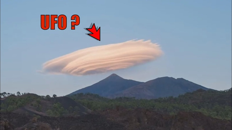 Lenticular Clouds Form to Look Like UFOs Teide Tenerife