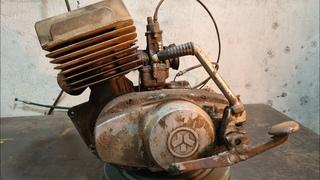 Old Soviet Motorcycle MINSK Abandoned Restoration | Minsk Motorcycle Engine Restoration #5