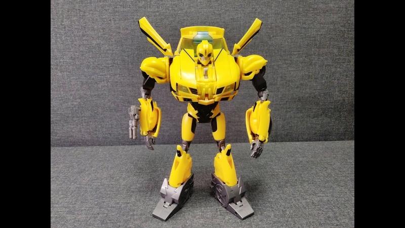 Обзор трансформера Bumblebee Transformers Prime Weaponizer Class Hasbro Музей Р ТФ