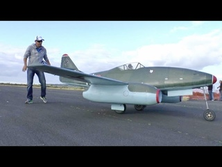 "ONBOARD CAMS - GIANT 1/3 SCALE RC MESSERSCHMITT ME 262 ALI MACHINCHY ""CLASSIC JETS"" ABINGDON 2014"