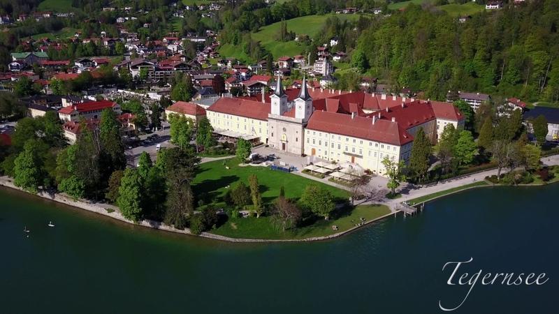 Der Tegernsee Bayern von Oben Bad Wiessee Rottach Egern 4K Drone Footage Dji Mavic Pro