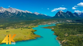 Полет над рекой - Живописные виды на реку Клайн, Канада - Кинематографические кадры с дронов 4K