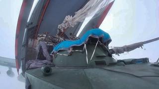 Десантирование и захват полевого аэродрома в ходе полкового учения с псковским соединением ВДВ