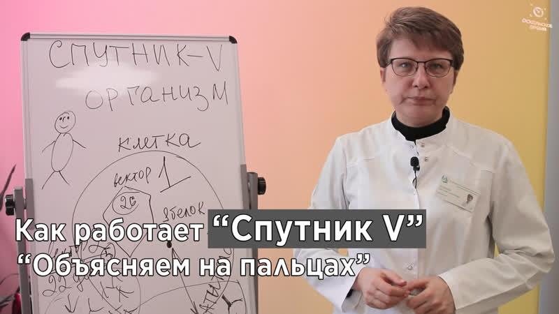 Как работает Спутник V Светлана Немцева объясняет на пальцах