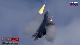 Su-57 In Action    (Vertical climb and Fire)