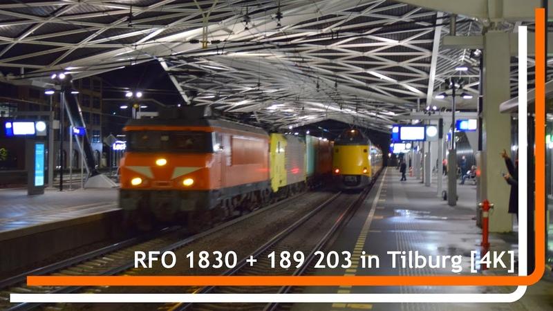 RFO 1830 en 189 203 komen met Cabooter shuttle door Tilburg 4K