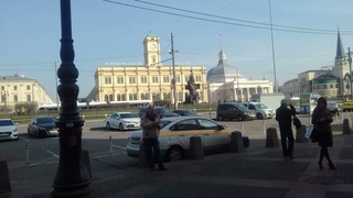 Прибытие в Москву (Казанский вокзал)