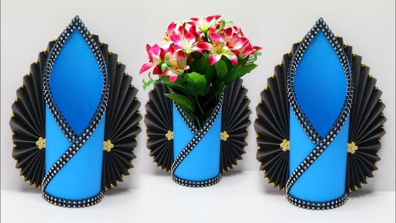 Vas Bunga Cantik dari KERTAS ! Model terbaru Mudah banget ! PAPER FLOWER VASE