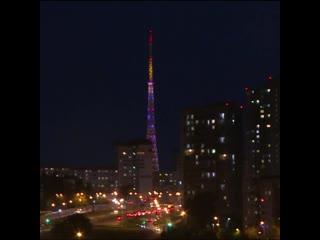 Новое световое шоу на пермской телебашне в честь 1 сентября